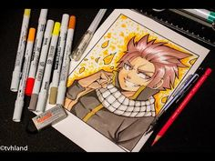 Comment dessiner Natsu de Fairy Tail? Dessin aux Neopiko-color - YouTube