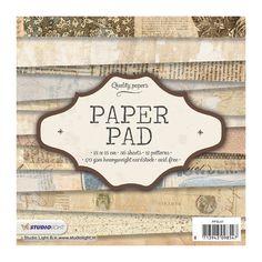 Papierbögen - Scrapbooking Papier 36 Blatt Paper Pad 15 x 15 cm - ein Designerstück von krealiebst bei DaWanda