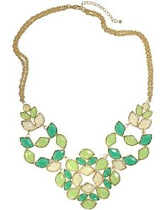 I know that BIG jewelry is in, but I can't get into that fad. Most of it looks tacky, in my opinion. However, THIS is a beauty...and not too big.