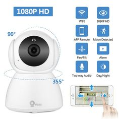 e5df1a0412ce Full HD 1080P IP Camera Wireless Home Security IP Camera Surveillance  Camera Wifi Night Vision CCTV Camera Baby Monitor