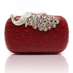 XIU Moda Charme Diamante Decorado Evening Bag (Red) – BRL R$ 64,09