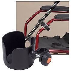 Convenient accessory holders clip onto your wheelchair, walker or rollator.