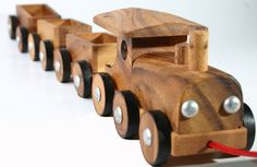 Wooden Toy Train , Christmas Gift. $21.00, via Etsy.
