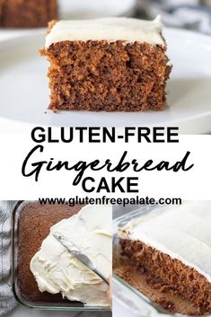 A tender, sweet and spicy Gluten-Free Gingerbread Cake with Cream Cheese Frosting. This gluten free gingerbread cake recipe is easy to whip up and is perfect with a dusting of powdered sugar, cream cheese frosting, or vanilla buttercream frosting. Gluten Free Deserts, Gluten Free Sweets, Gluten Free Cakes, Gluten Free Cooking, Gluten Free Vegan Cake, Gluten Free Coffee Cake, Sans Gluten Vegan, Foods With Gluten, Wheat Free Recipes