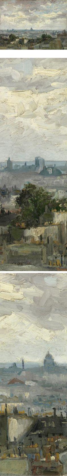 View of Paris, Vincent van Gogh.  From the Van Gogh Museum