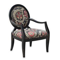 Malibu Accent Chair in Safar in a Ebony - BedBathandBeyond.com