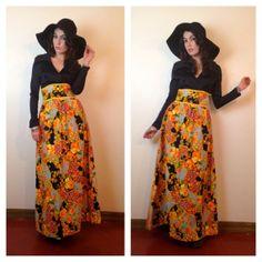 70's HIPPIE MAXI DRESS. #70s #boho #hippie #vintage #fashion