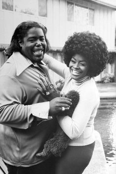 Barry White and his wife at home in Los Angeles 1974