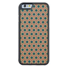 Red, Green, & Blue Honeycomb - iPhone 6 Wood Case