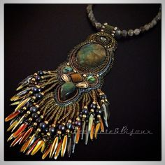 Labradorite necklace and pendent