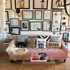 Pink sofa || Novogratz || Halloween