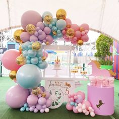 35 Trendy Balloon Ideas For Party Princess Birthday Party Decorations, Princess Theme Birthday, Balloon Decorations Party, Balloon Garland, Unicorn Birthday Parties, Birthday Balloons, Baby Shower Decorations, Birthday Party Themes, 5th Birthday
