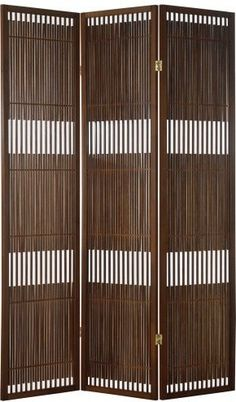 Whether you're creating space within a room or adding aesthetic accent along a wall, the Adesso Vertical Wood Room Divider will bring a touch of deco. Partition Screen, Partition Design, Affordable Furniture, Affordable Home Decor, Interior Exterior, Room Interior, Apartment Interior, Wood Room Divider, Room Dividers