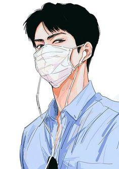 Bts Art, Chibi, Exo Anime, Anime Tumblr, Drawn Art, Exo Fan Art, Z Cam, Bts Drawings, Handsome Anime