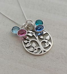 Hey, I found this really awesome Etsy listing at https://www.etsy.com/listing/291089093/family-tree-sterling-silver-necklace
