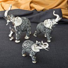 FashionCraft Elephant 3 Piece Figurine Set