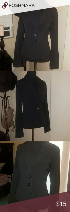 Black EUC Blazer Women's EUC black blazer. Hate to let this go! But I never get a chance to wear it, it's just been sitting in my closet. Size small. Brand is: My Michelle. Worn once My Michelle Jackets & Coats Blazers