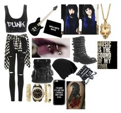 """Punk rock"" by miraculouslover ❤ liked on Polyvore featuring Topshop, Neon Hart, Ash, Casetify, Charlotte Russe and Alexander McQueen"