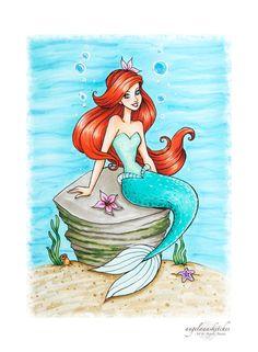 Ariel- Updated by angelaaasketches on DeviantArt