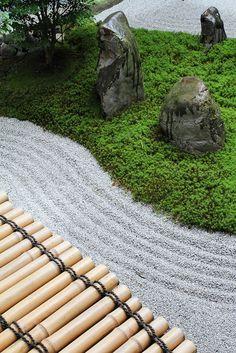 **The Zen garden in Ryousokuin temple in Kenninji 建仁寺, Higashiyama, Kyoto.