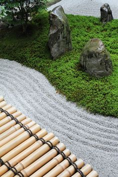 **The Zen garden in Ryousokuin temple in Kenninji 建仁寺, Higashiyama, Kyoto.