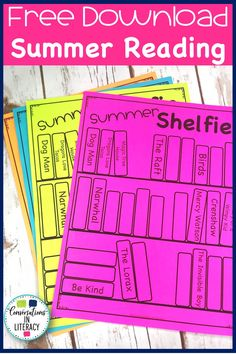 Free download to help prevent the dreaded summer slide in reading for elementary students! Included is our Summer Reading Challenge activity and Summer Shelfie activity. Keep students reading all summer long!