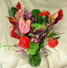 Tropical Supreme 26 stem Hawaiian tropical flowers assortment