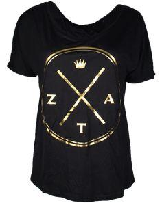 Zeta Tau Alpha Crown Tee by Adam Block Design | Custom Greek Apparel & Sorority Clothes | www.adamblockdesign.com