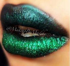 Green, Metallic Kisses.