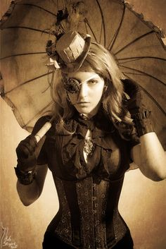 Steampunk its more than an aesthetic style, it's the longing for the past that never was. In Steampunk Girls we display professional pictures, and illustrations of Steampunk, Dieselpunk and other anachronistic 'punks. Some cosplay too! Steampunk Cosplay, Viktorianischer Steampunk, Steampunk Clothing, Steampunk Fashion, Steampunk Female, Steampunk Accessories, Steampunk Wedding, Steampunk Necklace, Steampunk Couture