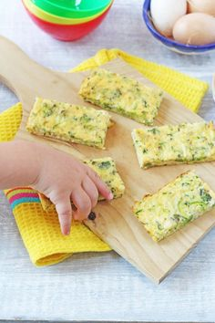 Broccoli Cheese Frittata Fingers Finger Foods For BabiesBaby