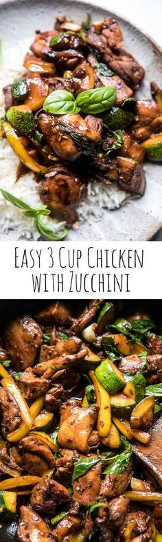 Easy 3 Cup Chicken with Zucchini | halfbakedharvest.com @hbharvest