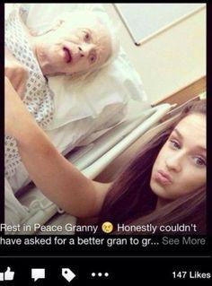 Самострел на фоне мертвой бабушки