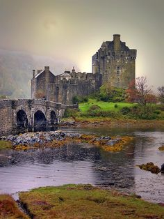 Eilean Donan Castle - Scotland; At the confluence of Loch Duich, Loch Long and Loch Alsh .