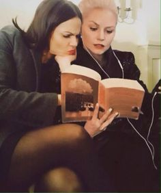 A rare glimpse at the evil queen and dark swan