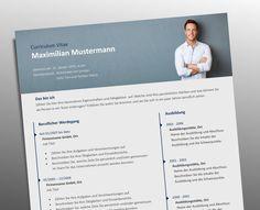 Top Job Bewerbung   Profi Lebenslauf Vorlage mit Foto Header