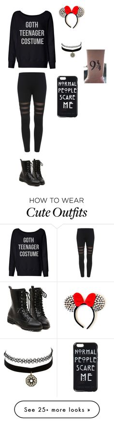 """""""cute"""" by cassiethompson20 on Polyvore featuring Disney and Charlotte Russe"""