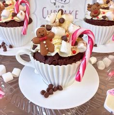 So these are a bit festive but I like the idea of Hot Chocolate Cupcakes in Tea Cups! ☕️