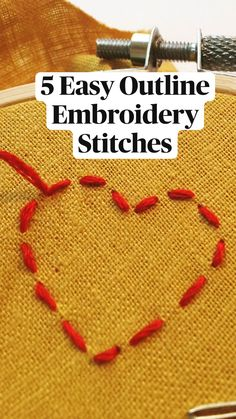 Embroidery Stitches Tutorial, Embroidery Flowers Pattern, Simple Embroidery, Sewing Stitches, Hand Embroidery Designs, Embroidery Techniques, Cross Stitch Embroidery, Beginner Embroidery, Needlework