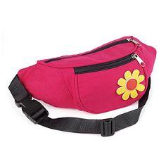 Flower Bum Bag Travel Festival Waist Money Belt Pink Wallet Bumbag with  daisy 424cd08081