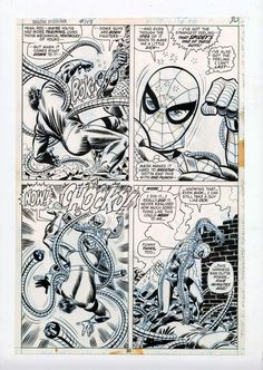 The first Spider-Man story I ever read. Comic Book Pages, Comic Book Artists, Comic Book Covers, Comic Artist, Comic Books Art, Stan Lee Spiderman, Spiderman Art, Spiderman Original, Comic Frame