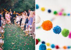 wedding decor ideas pom pom