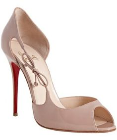 Louboutin Nude Patent Leather 'Delico' d'Orsay Pumps $725 #CL #Louboutins #Shoes