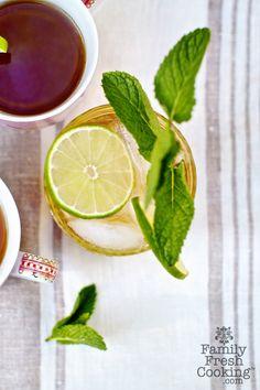 Sweet Honey Mint Green Tea | FamilyFreshCooking.com