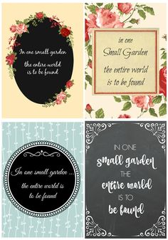 Collection of 4 spring quote printables