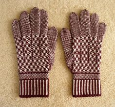 this has the right link to ravelry For two centuries at least, this craft has passed from generation to generation in the small town of Sanquhar in Dumfriesshire, Scotland. Originally knitted in drugget on very fine needles in black and white, the modern gloves are knitted in wool in contrasting colours.