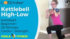KETTLEBELL High Low | Full Body Fat Burn CARDIO + STRENGTH Workout ... This one's for all my KETTLE-Bs!  We're getting a FULL BODY burn and sculpt in just under 30 minutes with this HIGH-LOW style KETTLEBELL workout.  Short, intense bursts of calorie crushing CARDIO are paired with long, controlled intervals of muscle toning STRENGTH for a perfect fat burn workout.  Find more FREE workout videos at www.PahlaBFitness.com
