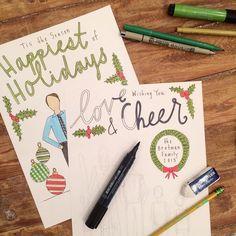 custom holiday cards from Sam Sidney   https://instagram.com/samsidney/