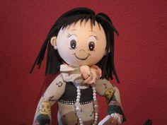 Fofucha totalmente personalizada en goma eva  y pintada a mano . elenamartinlopez.blogspot.