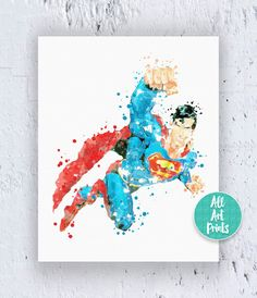Superman Art Print Superman Print Superman Poster by AllArtPrints
